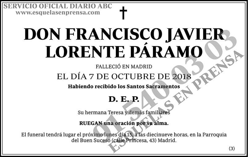 Francisco Javier Lorente Páramo